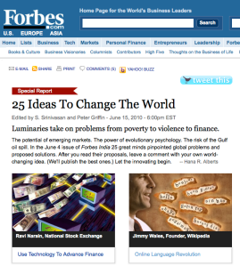 25 ideas to change the world